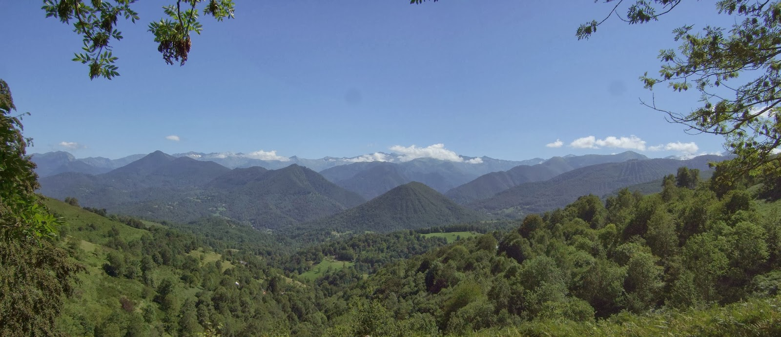 Great view across to the high Pyrenees from near where Louis Barreu was killed.
