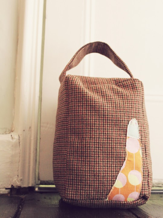 make a fabric doorstop