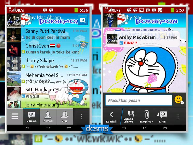 BBM Mod Tema Doraemon Versi 2.2.1.45 Apk Terbaru