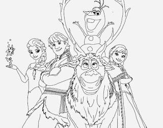 Gambar mewarnai tokoh frozen