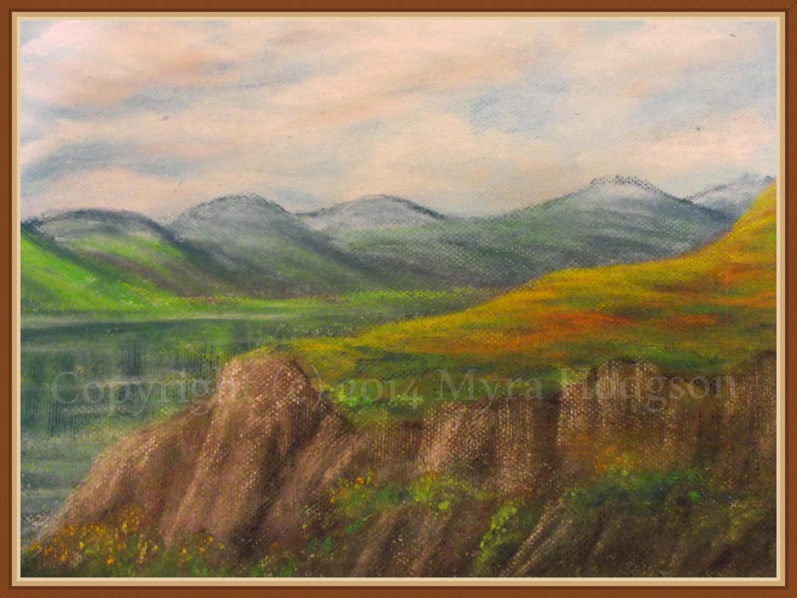 Painting the landscape - experimenting with pastels again!