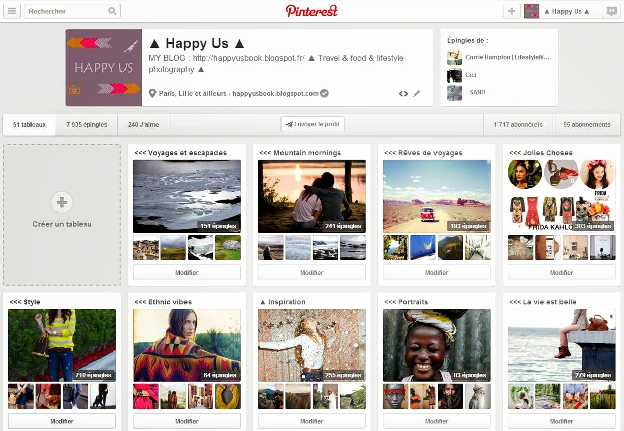 Pinterest - Happy Us