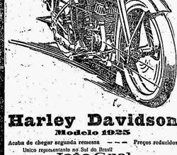 Propaganda histórica da Harley Davidson para o ano de 1925.