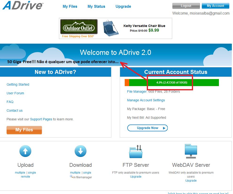 moisesalba.com - mais uma dica legal pra voces! SkyDrive - Google Drive - Box - ADrive