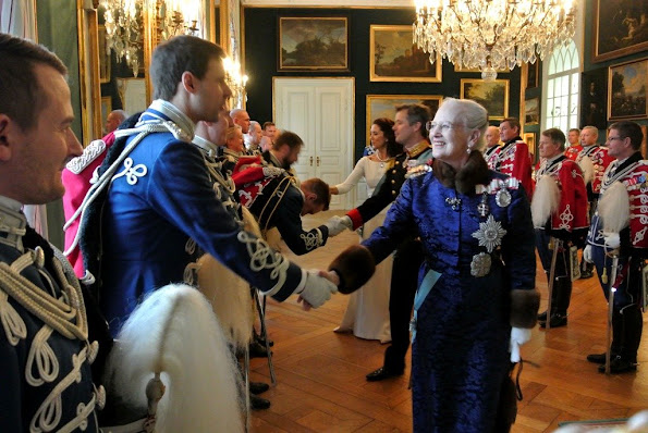 Danish Royal Family at annual new years reception for the ambassadors at Christiansborg palace.