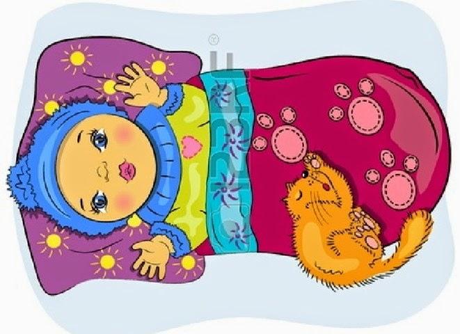 Gambar Kartun Wanita Tidur