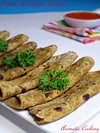 Potato Parsley Parathas
