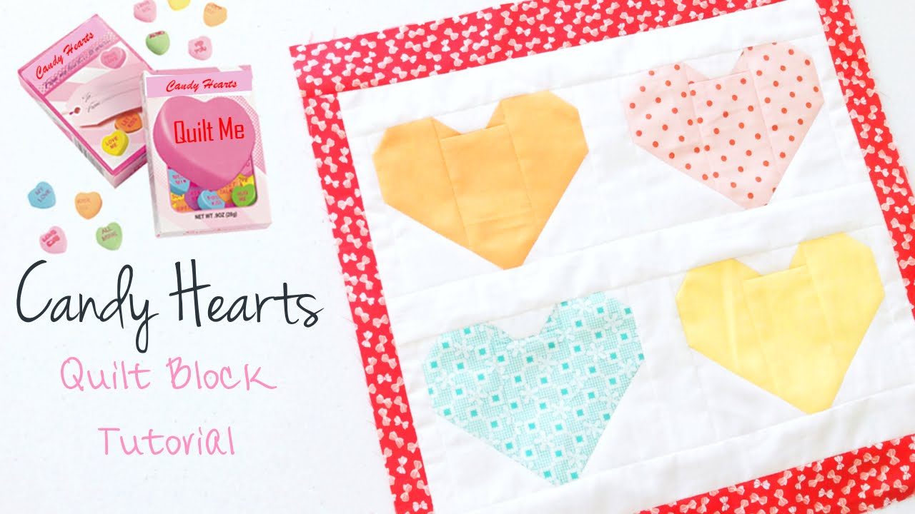 Candy Hearts Quilt Block Pattern