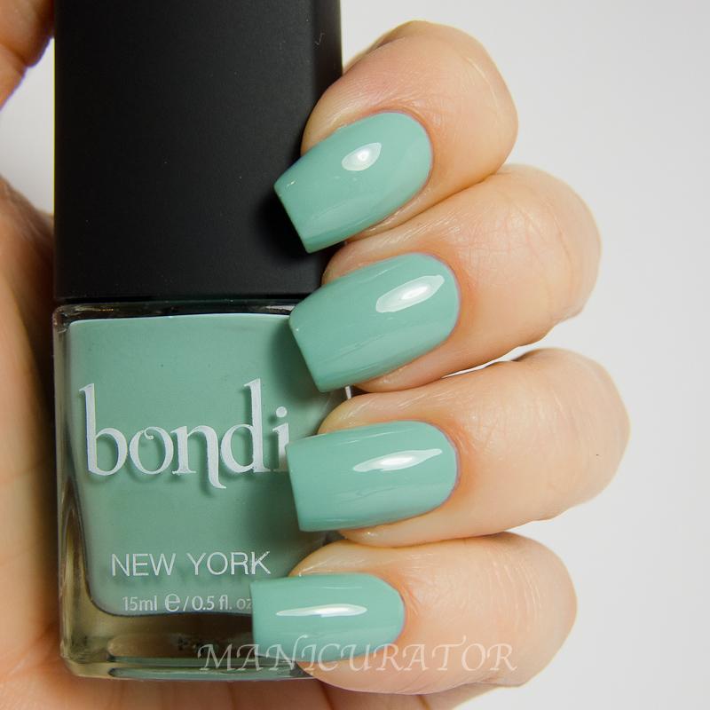 manicurator: Bondi Lady Liberty Swatch and Review with Chevron Nail Art
