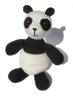 a clever cognitive knitted panda called Konrad