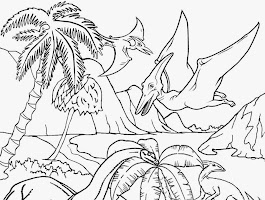 Pteranodon Coloring Pages Free