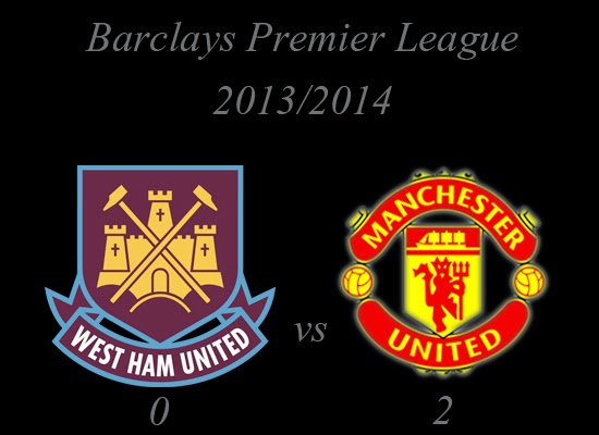 West Ham United vs Manchester United Result Barclays Premier League 20132014