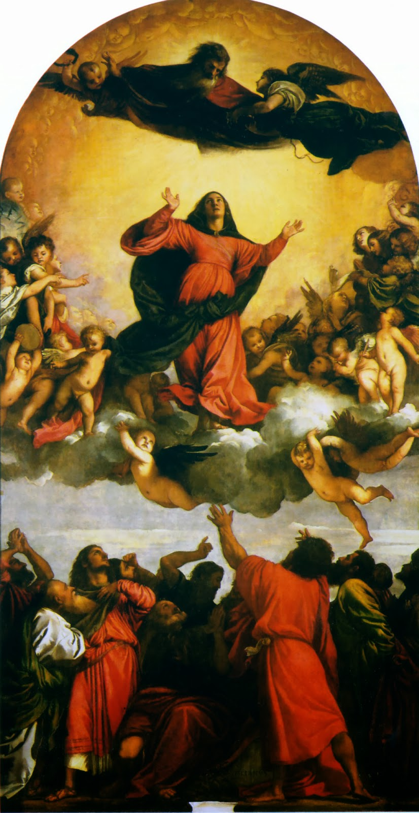 "Picture of ""Assumption of the Virgin"" by Titian, 1518"
