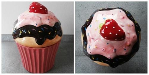 Porzelan Dose Cupcake
