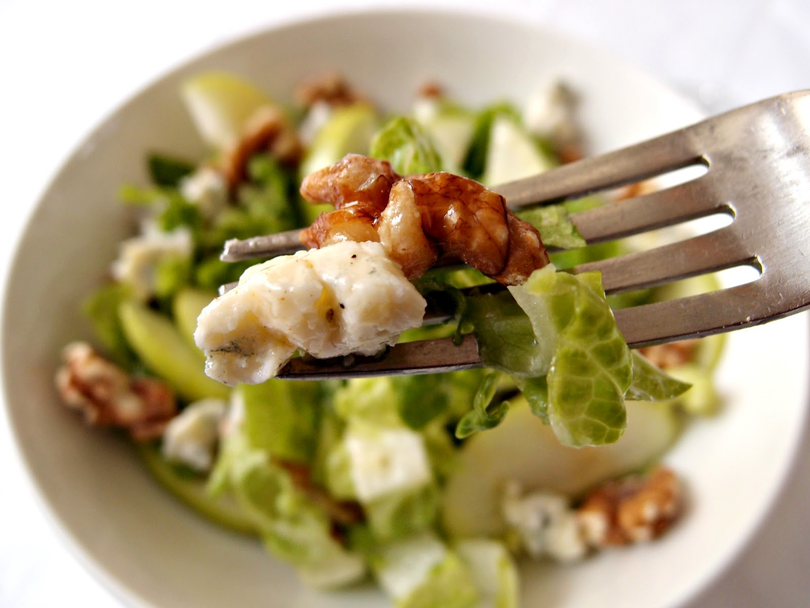 Milk and Honey: Cos Salad with Apples, Walnuts and Blue Cheese