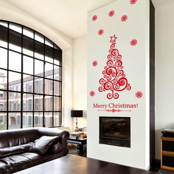papel pintado vinilos decorativos navidad