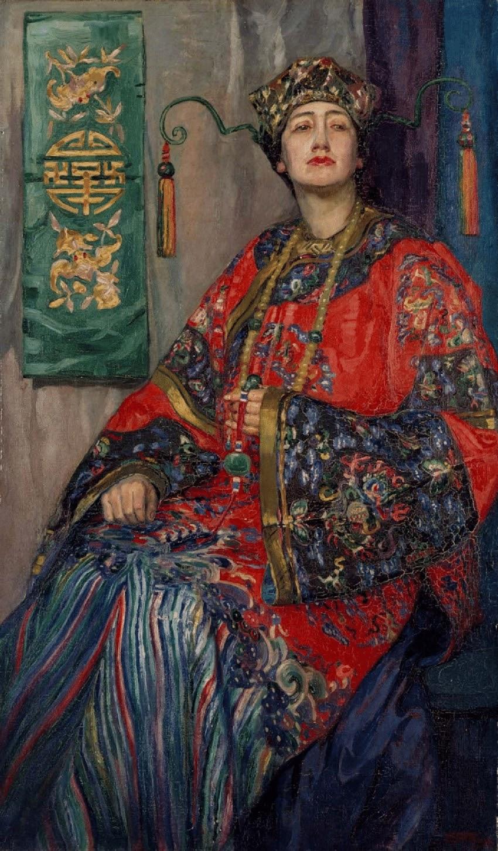 Hilda Rix Nicholas La robe Chinoise  State Art