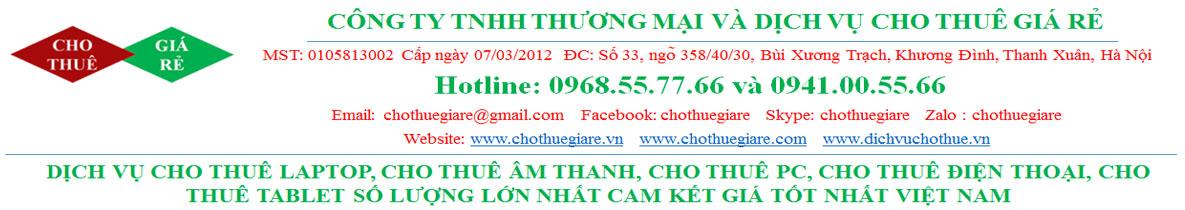 Cho thuê laptop giá rẻ nhất Hà Nội 0941005566