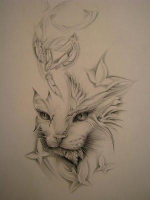 Small Cat Tattoo Designs