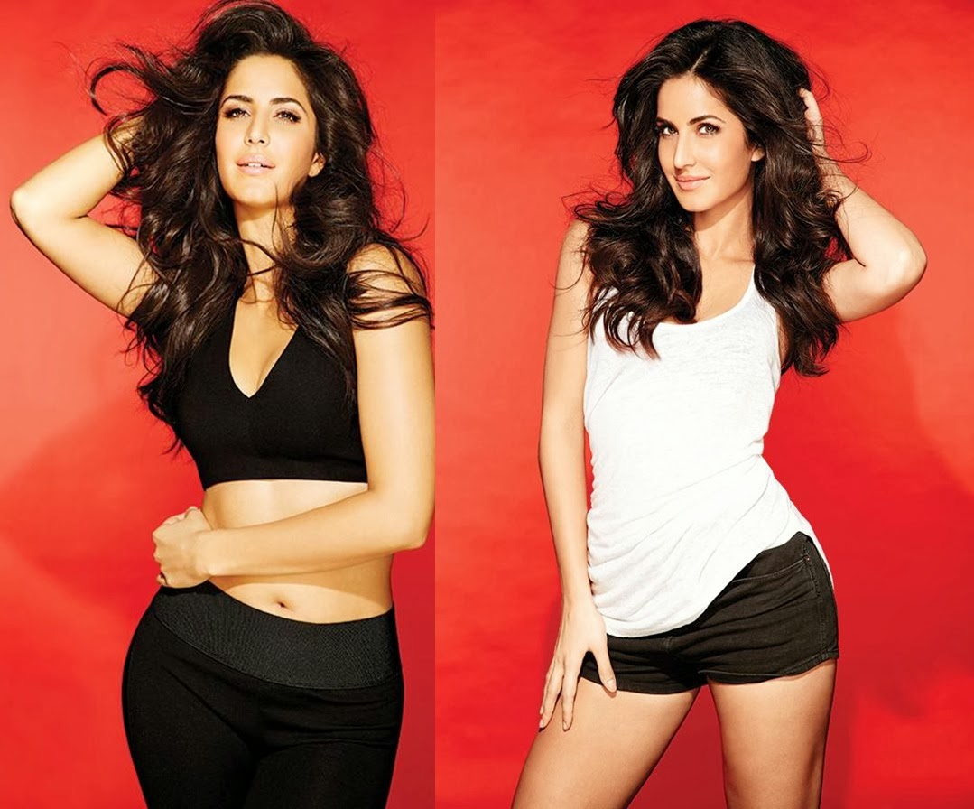 Katrina Kaif in black shorts and white bra panty Boom Film actress