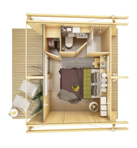 Casas de madera prefabricadas planos asesoria tecnica - Casa de madera prefabricadas ...