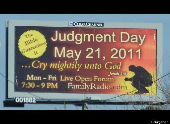 may 21 judgment day billboard. judgment day may 21.