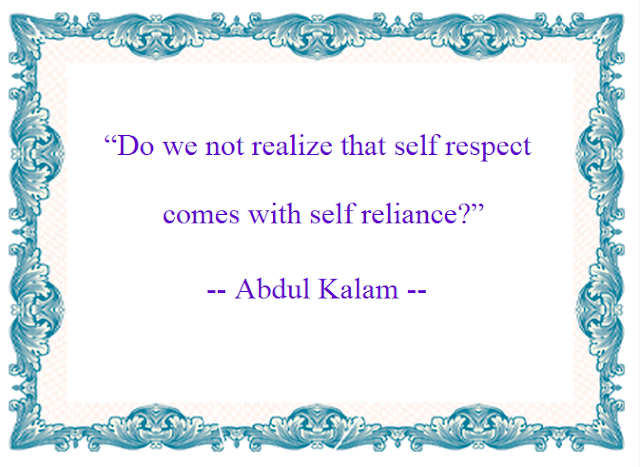 Motivational Quotes : Self reliance  - Kshitij Yelkar