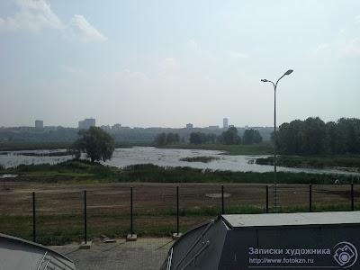 Вид от Дворца водных видов спорта на парк Горького