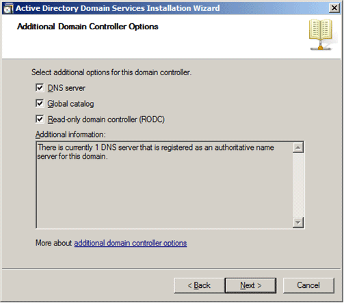 Hardware and networking rodc select the read only domain controller check box as shown in the following illustration by default the dns server check box is also selected yadclub Images