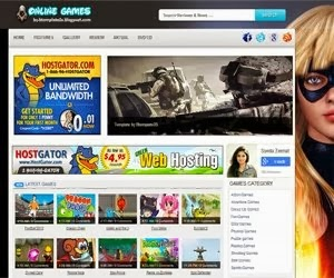 Online Games Blogger Template