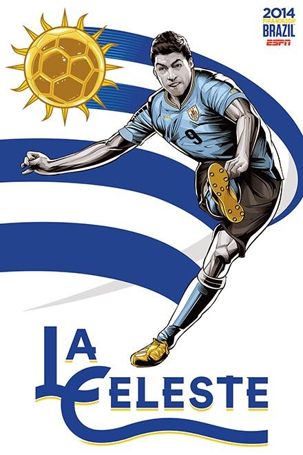 Poster keren world cup 2014 - Uruguay