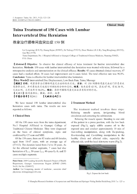 Tuina-Treatment study
