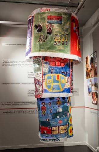 Participatory textile installation in Arktikum exhibition