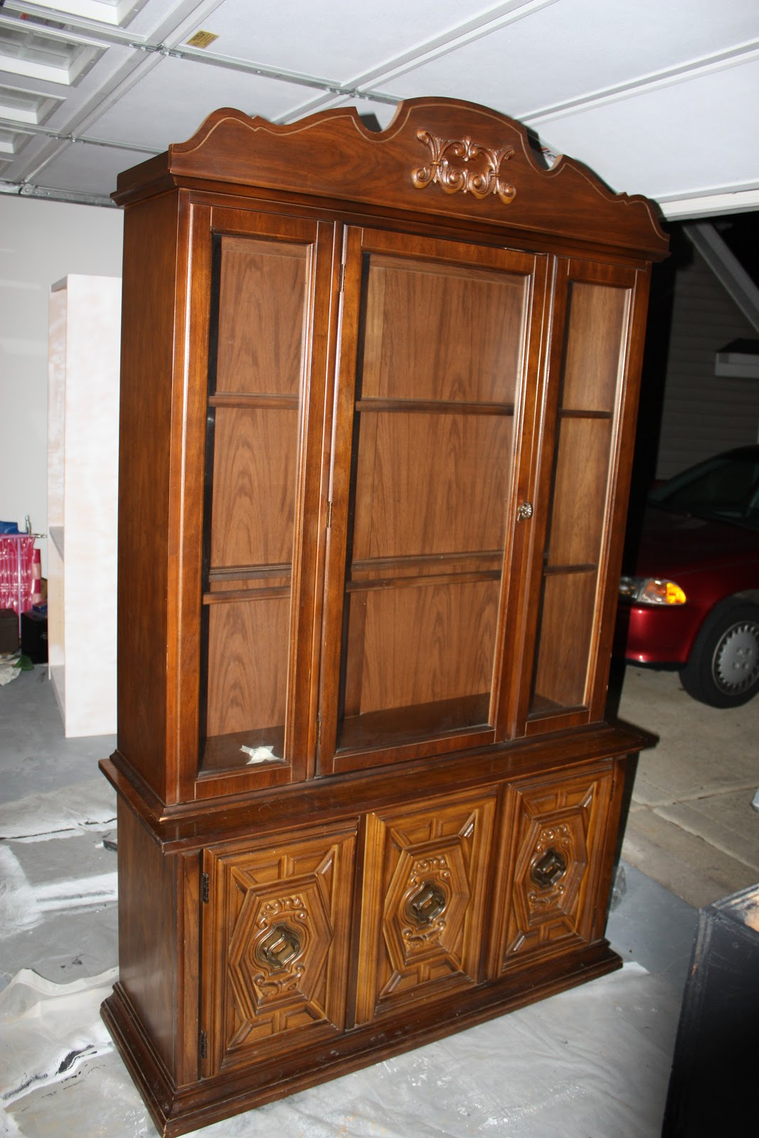 Made By Megg: China Cabinet Redone Again.. Full resolution‎  photograph, nominally Width 1067 Height 1600 pixels, photograph with #763E1E.