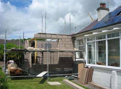 CB3 Design Architects, Domestic extension, Lauder, Scottish Borders.  Site visit image 1.