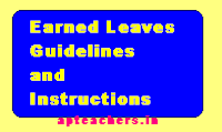 INSTRUCTIONS ON EARNED LEAVES
