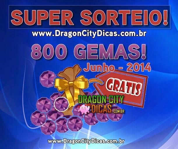 Super Sorteio - Concorra à 800 Gemas - Junho