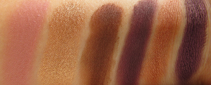 Swatches 2. Reihe: Makeup Revolution - I Heart Makeup - Death by Chocolate Eyeshadow Palette