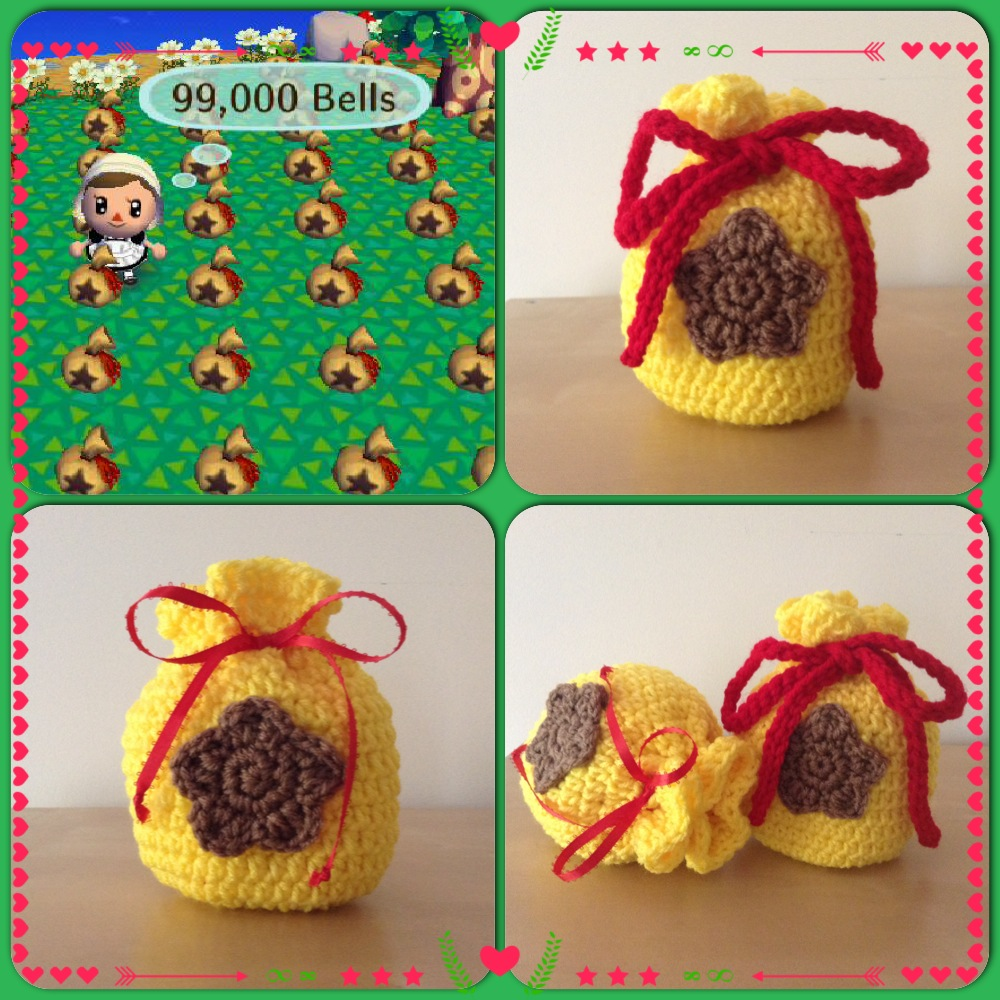 Crochet Animal Bag Free Pattern : Malons Craft Blog: Animal Crossing Bell Bag ~ Free ...