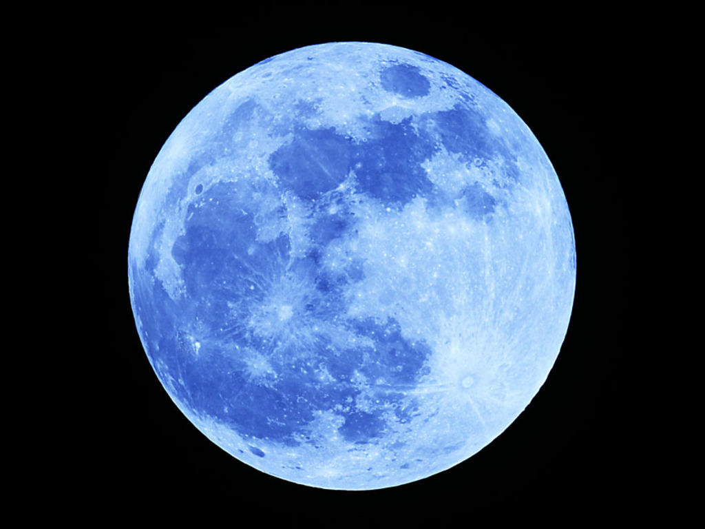 blue full moon high quality wallpaper