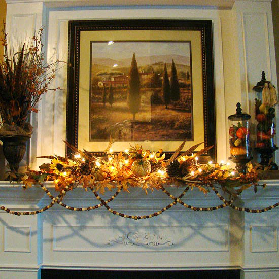 fall mantle arrangement photography - photo #23