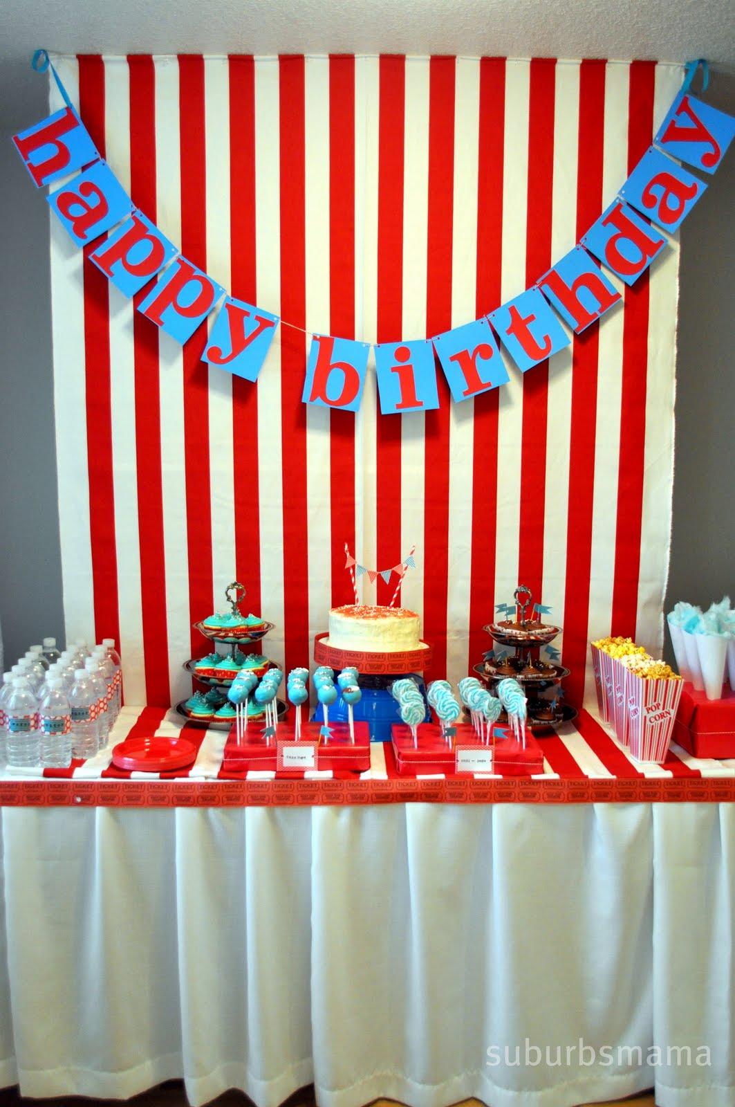 Suburbs Mama Carnival Themed Birthday Party Shared