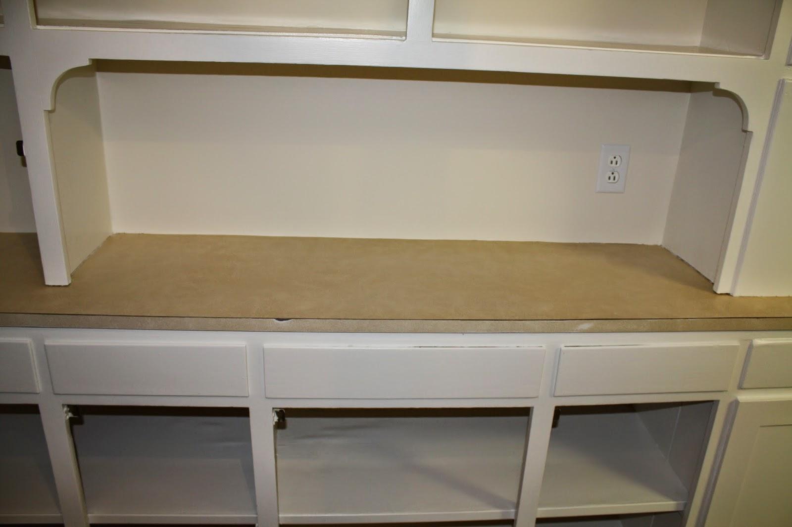 Converting laminate counters to oak