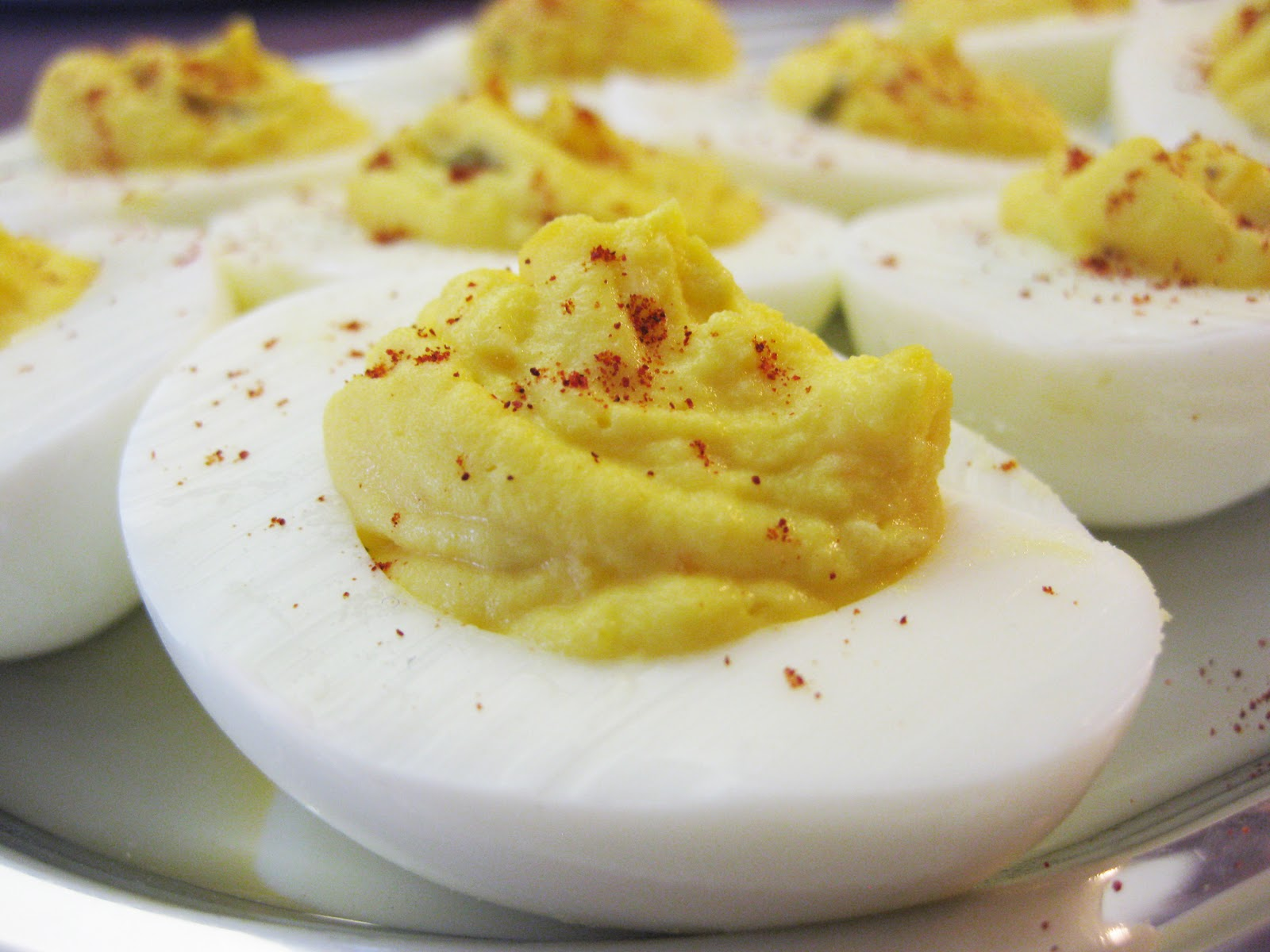 my daughter asked my husband why deviled eggs are called deviled eggs ...