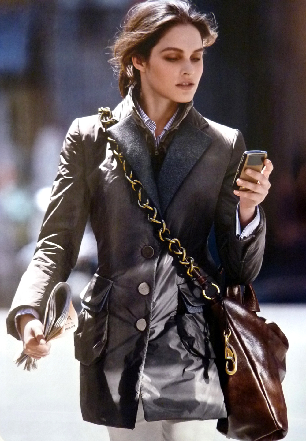 Lonneke Engel in Fay Fall/Winter 2009 campaign (photography: Hans Feurer)  / exclusive interview with Lonneke Engel / fashion models beauty secrets / via fashioned by love british fashion blog