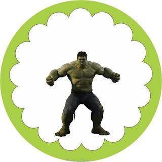 Toppers o Etiquetas para Imprimir Gratis de los Vengadores.