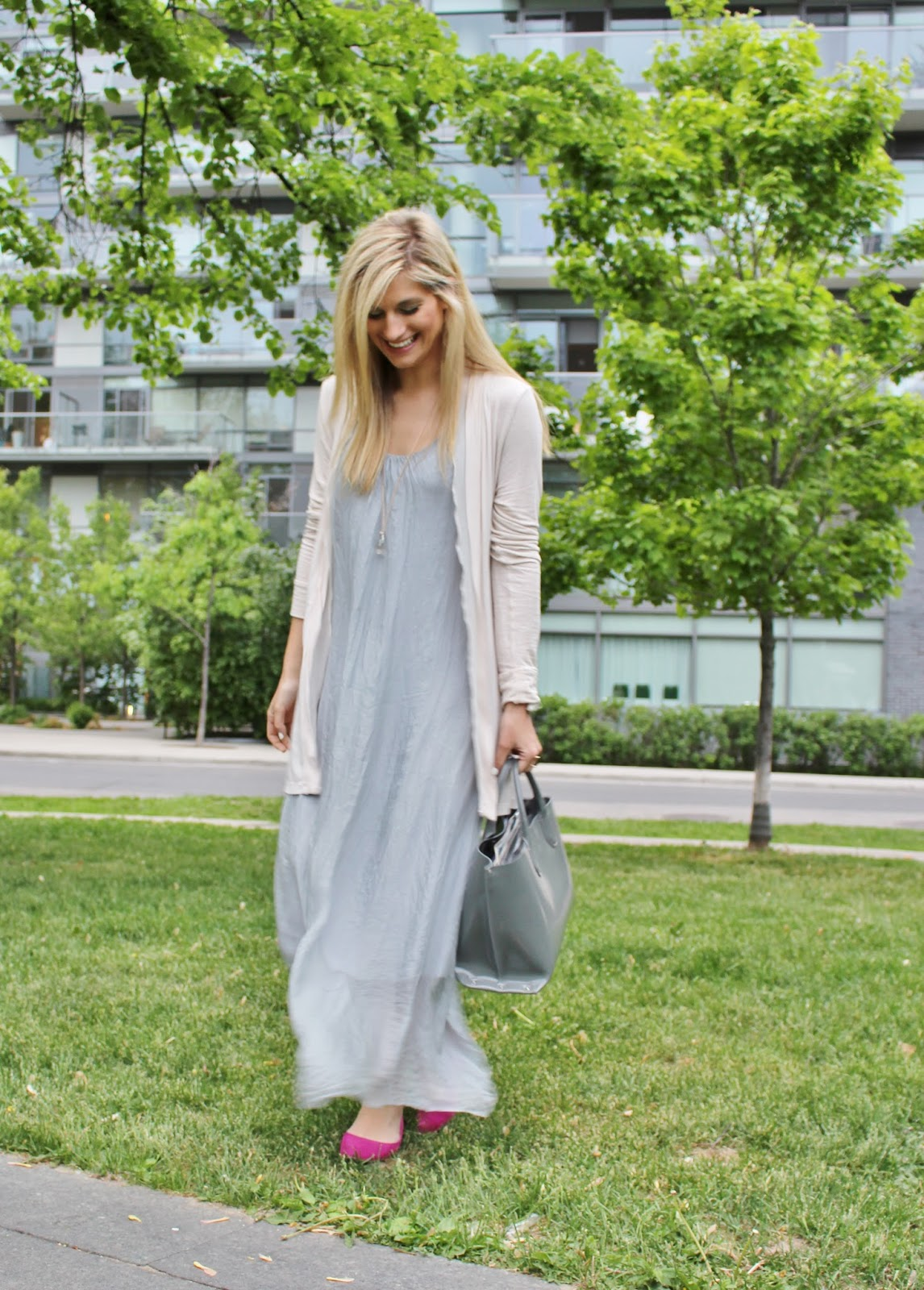 Maxi dress with cardigan - Best dresses collection