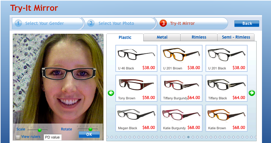 Frame Finder Virtual Eyeglass Try On : Measure Once, Cut Twice: Product Review: GlassesUSA.com