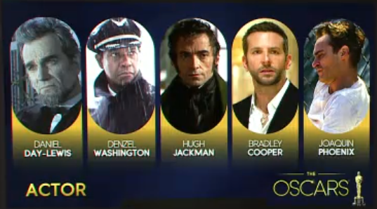 The Oscars best Actor nominees