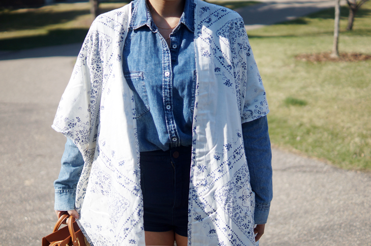 Denim and Kimono Jacket